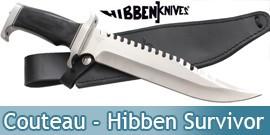 Couteau Hibben Survivor Rambo Poignard
