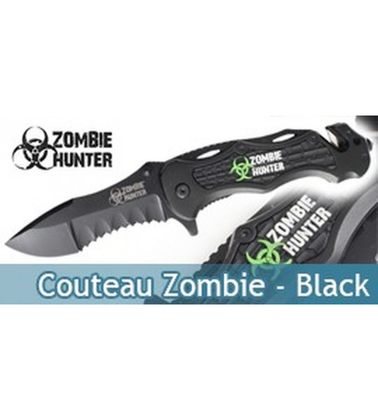 Couteau Zombie Hunter Master Cutlery Black