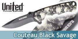 Couteau Black Legion Skull BV137 United Cutlery