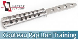 Couteau Papillon Entrainement Silver Master Cutlery