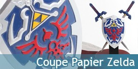 Coupe Papier Zelda Epée + Bouclier