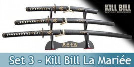 Kill Bill Set 3 Katanas de La Mariée - Lame Maru
