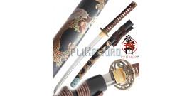 Wakizashi Dragon Ryumon Carbone 1065