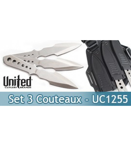 Set 3 Couteaux de lancer Lightning Bolt - UC1255