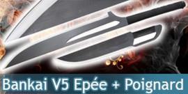 Katana Epée Bankai Ichigo V5 Epée + Poignard