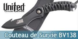 Couteau de Survie BV138 Black Savage