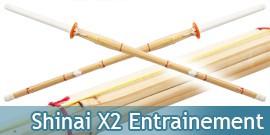 Shinais Bambous X2 Entrainement Kendo