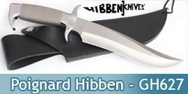 Couteau Poignard Hibben GH627 Highlander Bowie