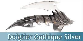 Doigtier Acier Gothique Dragon Claw Silver