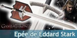 Game of Thrones Epée Eddard Stark Le Trone de fer