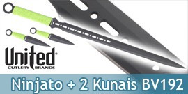 Ninjato + Kunais Black Savage United Cutlery BV192
