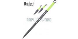 Ninjato + Kunais Black Savage United Cutlery BV192
