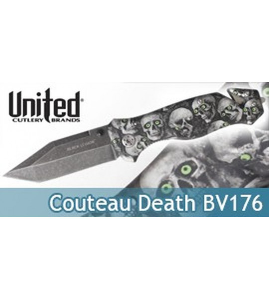 Couteau Death BV176 United Cutlery Black Legion