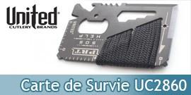 Carte de Survie en Acier UC2860 United Cutlery