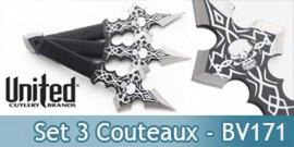Set 3 Couteaux de Lancer BV171 Black Legion