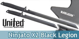 Double Ninjato Epée Viper Black Savage BV189