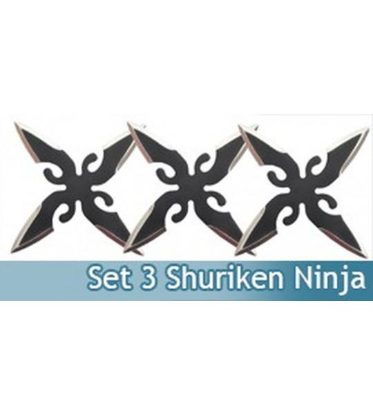 Ninja Set 3 Shuriken Fantasy ET12
