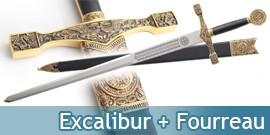 Epée + Fourreau Excalibur du Roi Arthur