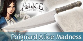 Alice Madness Returns Poignard Vorpal Blade Dague