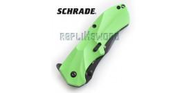 Couteau de Poche Schrade SCHA7GRS Green Edition