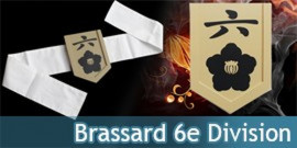 Brassard 6eme Division - Capitaine Byakuya Kuchiki