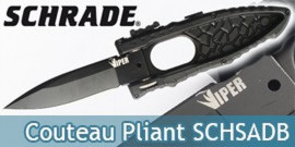 Couteau Pliant Schrade Drop Point SCHSADB