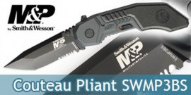 Couteau Pliant Smith & Wesson SWMP3BS