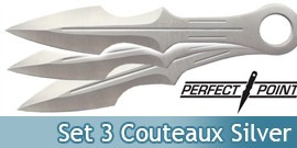 Set 3 Couteaux Silver Perfect Point