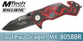 Couteau Dragon Rouge Xtreme Ballistic MX-8058BR