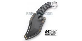 Couteau Karambit Gris Xtreme Ballistic MX-8072B
