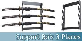 Support bois Katana 3 places Présentoir