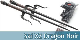 Sai Set 2 Dragon Noir 2314B