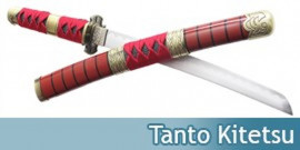 Tanto Kitetsu Red Couteau Zoro