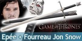 Game of Thrones Jon Snow Epée + Fourreau Longclaw