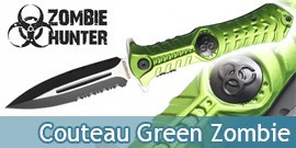 Couteau Zombie Vert ZB-003GN