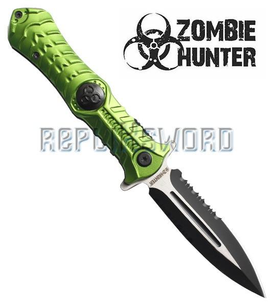Couteau Zombie Vert ZB-003GN