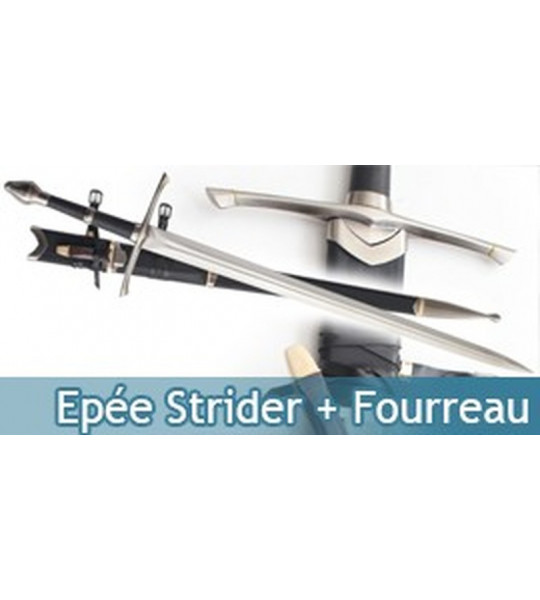 Aragorn Epée - Strider + Fourreau + Couteau