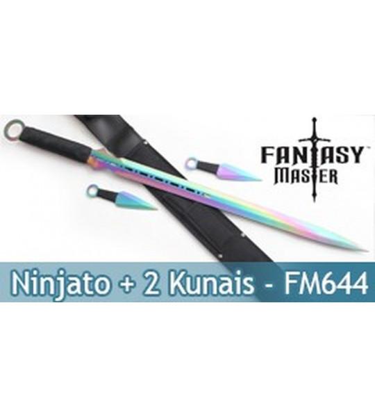 Pack Epée Ninjato + 2 Kunais FM-644DRB