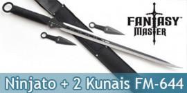 Pack Epée Ninjato + 2 Kunais FM-644D