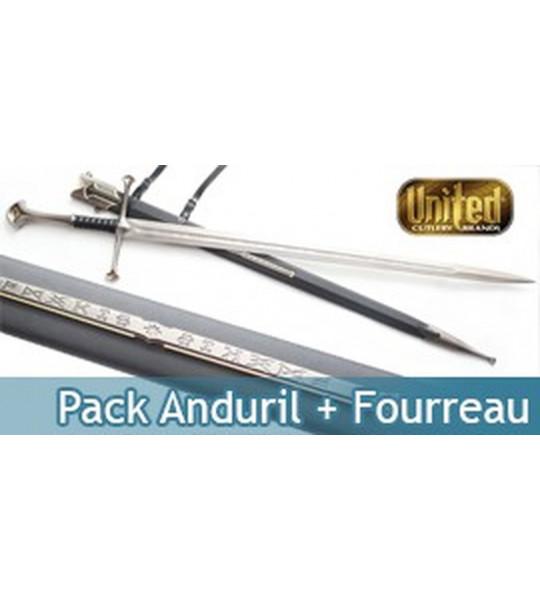 Le Seigneur des Anneaux Pack Anduril Epee et Fourreau