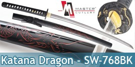 Katana Dragon Master Cutlery SW-768BK Epee Sabre