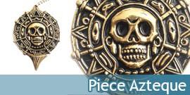 Pirates des Caraibes Piece Azteque Collier + Couteau