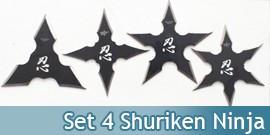 Set 4 Shuriken Ninja FM-431-4 Etoile Shinobi