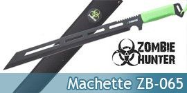 Machette Zombie Hunter ZB-065 Couteau Master Cutlery