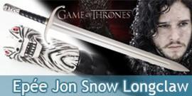 Game of Thrones Jon Snow Epée Longclaw - Le Trone de fer