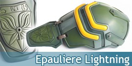 Epauliere Lightning Pauldron Cosplay
