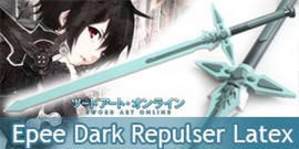 Sword Art Online Epée Kirito Repulser Latex Mousse Green