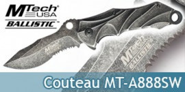 Couteau Poing Americain Gris MT-A863SW