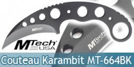 Couteau Karambit MTECH Black MT-664BK