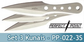 Set 3 Couteaux Kunais Perfect Point PP-022-3S